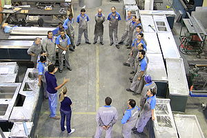 Training meeting in a ecodesign stainless steel company in brazil.JPG